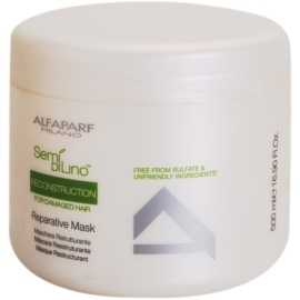 Alfaparf Milano Semi di Lino Reconstruction for Damaged Hair maschera rigenerante per capelli rovinati  500 ml
