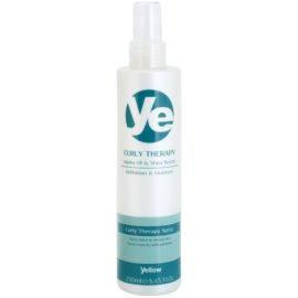 Alfaparf Milano Yellow Curly Therapy öblítést nem igénylő hidratáló spray hullámos hajra  250 ml
