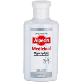 Alpecin Medicinal Silver vlasové tonikum neutralizující žluté tóny  200 ml