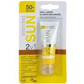 Altermed SUN 2 in1 Sonnenschutzcreme + Stick für  empfindliche Hautstellen SPF 50+  20 ml