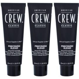 American Crew Classic coloração de cabelo para cabelo cinzento tom 7-8 Light  3x40 ml