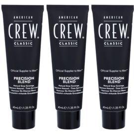 American Crew Classic barva na vlasy pro šedivé vlasy odstín 7-8 Light  3x40 ml