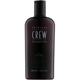 American Crew Tea Tree champú, acondicionador y gel de ducha 3 en 1 para hombre  450 ml