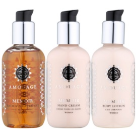 Amouage Memoir Gift Set II.  Shower Gel 100 ml + Body Milk 100 ml + Hand Cream 100 ml