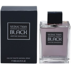 Antonio Banderas Seduction in Black Eau de Toilette para homens 200 ml