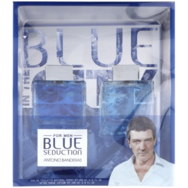 Antonio Banderas Blue Seduction Geschenkset II.  Eau de Toilette 100 ml + After Shave Water 100 ml