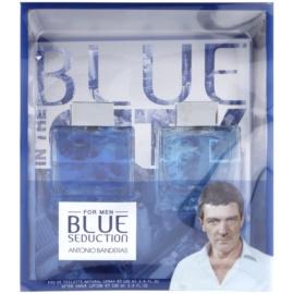Antonio Banderas Blue Seduction dárková sada II.  toaletní voda 100 ml + voda po holení 100 ml