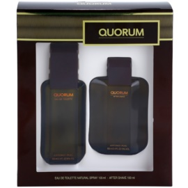 Antonio Puig Quorum Geschenkset I. Eau de Toilette 100 ml + After Shave Water 100 ml