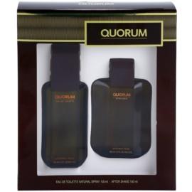 Antonio Puig Quorum подаръчен комплект I. тоалетна вода 100 ml + одеколон 100 ml