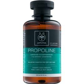 Apivita Holistic Hair Care Pepermint & Propolis shampoing pour cheveux très gras  250 ml