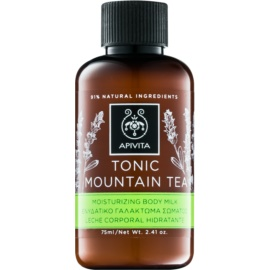 Apivita Body Tonic Bergamot & Green Tea leite tónico para corpo  75 ml