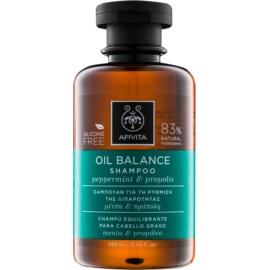 Apivita Holistic Hair Care Pepermint & Propolis champô para cabelos oleosos  250 ml