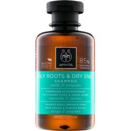Apivita Holistic Hair Care Nettle & Propolis Shampoo voor Vette Hoofdhuid en Droge Haarpunten   250 ml