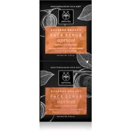 Apivita Express Beauty Apricot sanftes Haut-Peeling  2x8 ml