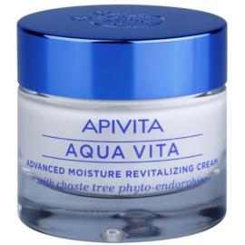 Apivita Aqua Vita інтенсивний зволожуючий та відновлюючий крем для комбінованої та жирної шкіри  50 мл
