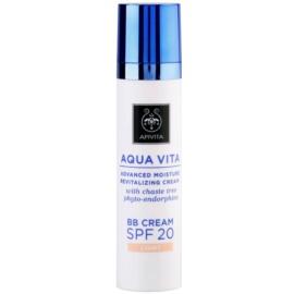 Apivita Aqua Vita feuchtigkeitsspendende und revitalisierende BB Creme SPF 20 Farbton Light  40 ml