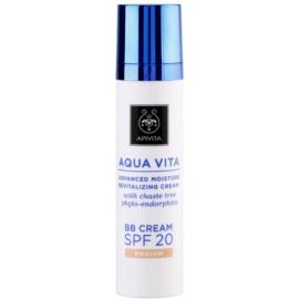 Apivita Aqua Vita feuchtigkeitsspendende und revitalisierende BB Creme SPF 20 Farbton Medium  40 ml