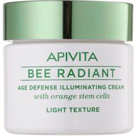 Apivita Bee Radiant lahka pomlajevalna krema za osvetlitev kože  50 ml
