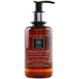 Apivita Cleansing Honey & Orange tónico para pieles normales y secas  200 ml