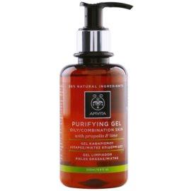 Apivita Cleansing Propolis & Lime почистващ гел  за смесена и мазна кожа   200 мл.