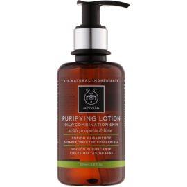 Apivita Cleansing Propolis & Lime lotion tonique purifiante pour peaux mixtes et grasses  200 ml