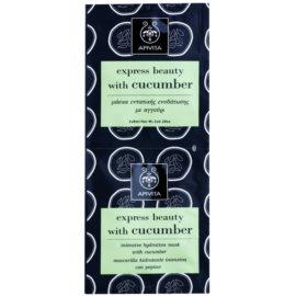 Apivita Express Beauty Cucumber intensive feuchtigkeitsspendende Maske für das Gesicht  2 x 8 ml