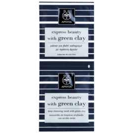 Apivita Express Beauty Green Clay Deep Cleansing Face Mask 2 x 8 ml