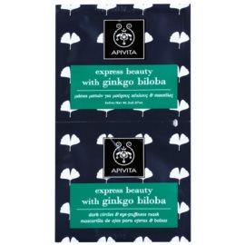 Apivita Express Beauty Ginkgo Biloba masque yeux anti-enflures et anti-cernes  2 x 2 ml
