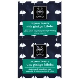 Apivita Express Beauty Ginkgo Biloba maschera occhi contro gonfiori e occhiaie  2 x 2 ml