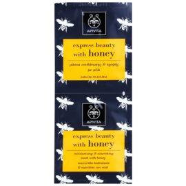 Apivita Express Beauty Honey máscara facial hidratante e nutritiva  2 x 8 ml