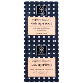 Apivita Express Beauty Apricot делікатний пілінг для шкіри  2 x 8 мл