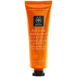 Apivita Express Beauty Apricot jemný pleťový peeling  50 ml