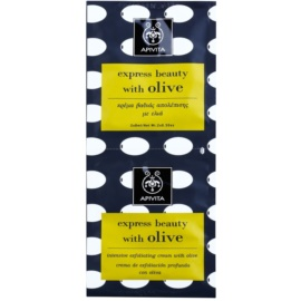 Apivita Express Beauty Olive mélytisztító peeling az arcra  2 x 8 ml