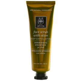 Apivita Express Beauty Olive globinsko čistilni piling za obraz  50 ml