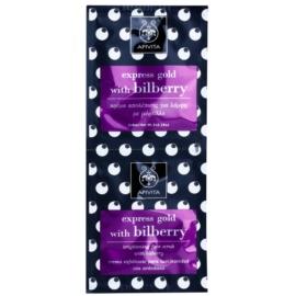Apivita Express Gold Bilberry peeling maszk az élénk bőrért  2 x 8 ml