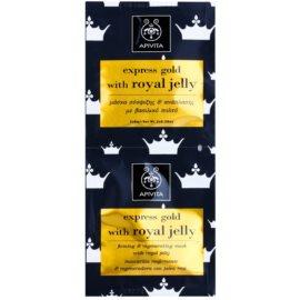 Apivita Express Gold Royal Jelly festigende und regenerierende Gesichtsmaske  2 x 8 ml