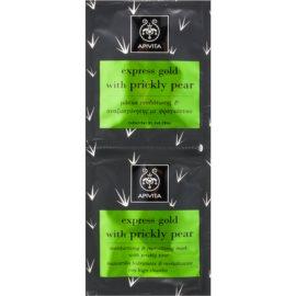 Apivita Express Beauty Prickly Pear hidratáló és revitalizáló maszk az arcra  2 x 8 ml
