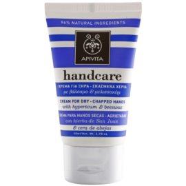 Apivita Hand Care Hypericum & Beeswax krém na suché a popraskané ruce  50 ml
