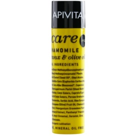 Apivita Lip Care Chamomile baume protecteur lèvres SPF 15 (Organic Beeswax & Olive Oil) 4,4 g