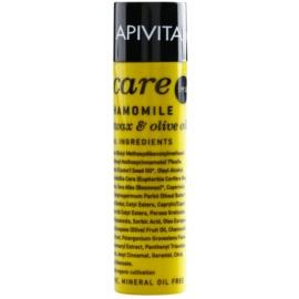 Apivita Lip Care Chamomile schützendes Lippenbalsam LSF 15 (Organic Beeswax & Olive Oil) 4,4 g