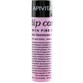Apivita Lip Care Pink Rose hidratáló balzsam regeneráló hatással  4,4 g