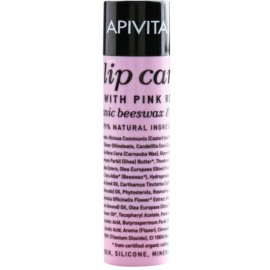 Apivita Lip Care Pink Rose baume hydratant effet régénérant  4,4 g