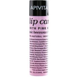 Apivita Lip Care Pink Rose bálsamo hidratante con efecto regenerador  4,4 g