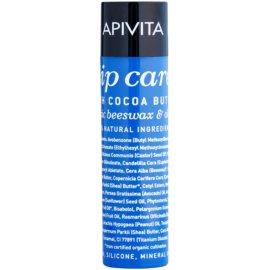 Apivita Lip Care Cocoa Butter balsam de buze ultra-hidratant SPF 20 (Organic Beeswax & Olive Oil) 4,4 g