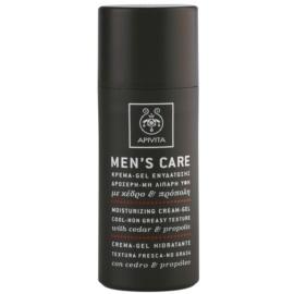 Apivita Men's Care Cedar & Propolis géles krém hidratáló hatással  50 ml
