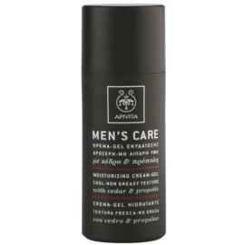 Apivita Men's Care Cedar & Propolis krem w żelu o dzłałaniu nawilżającym   50 ml
