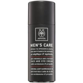 Apivita Men's Care Cardamom & Propolis crème anti-rides visage et yeux  50 ml