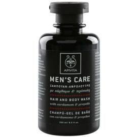 Apivita Men's Care Cardamom & Propolis shampoing et gel de douche 2 en 1  250 ml