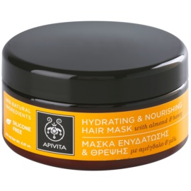 Apivita Holistic Hair Care Almond & Honey vlažilna in hranilna maska za suhe lase  200 ml