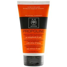 Apivita Holistic Hair Care Citrus & Honey revitalizirajući regenerator za sve tipove kose  150 ml
